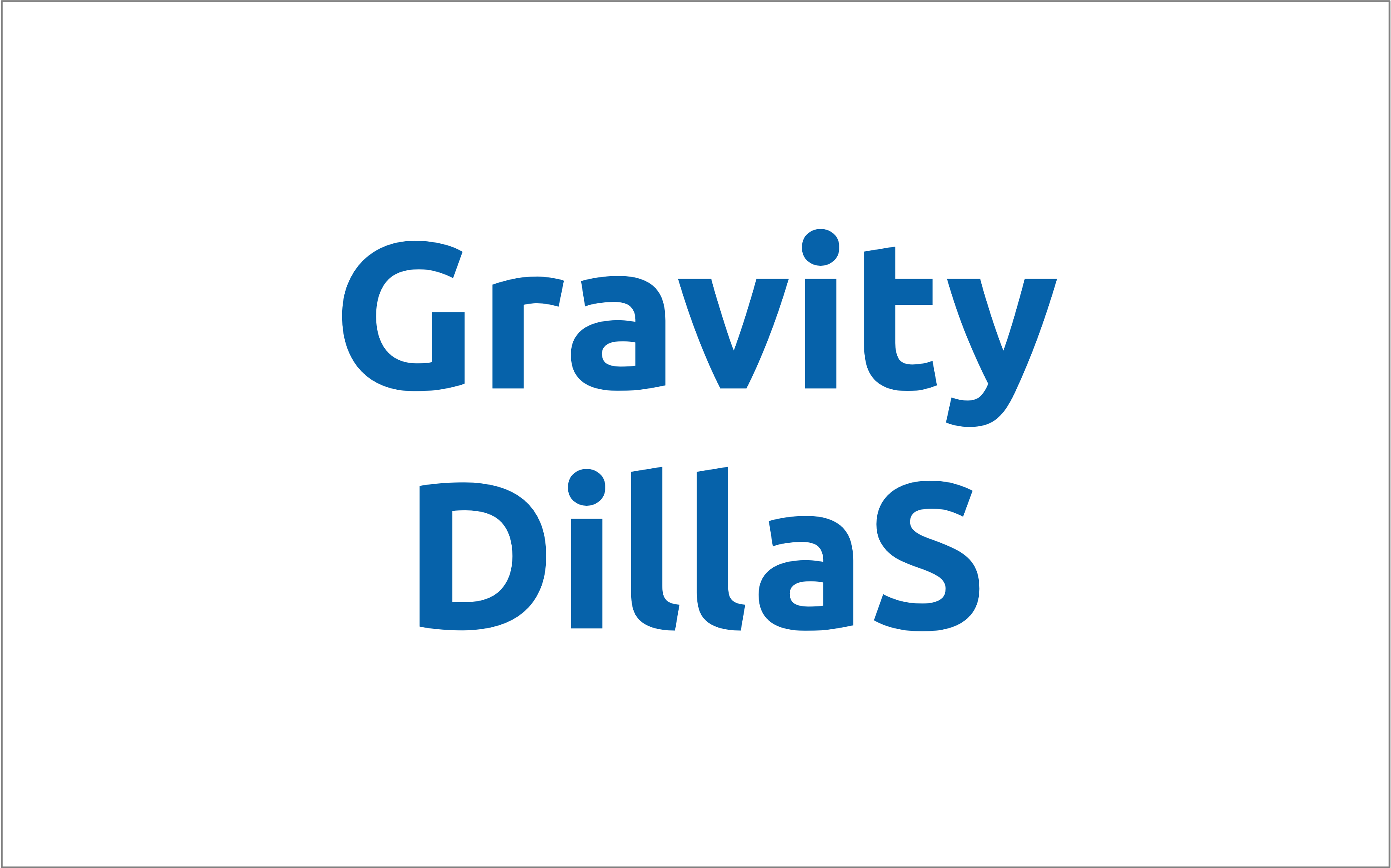 Gravity DiLLaS Project (2019-2020)